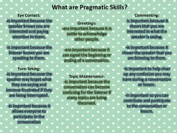 Pumpkin Pragmatic Practice for Speech Therapy!