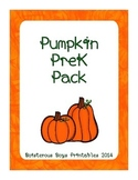 Pumpkin PreK Printable Learning Pack