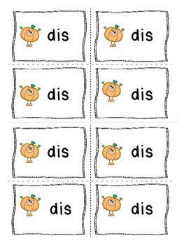 Pumpkin Prefix Practice