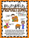 Pumpkin Prepositions - Fall - Grammar - ELL