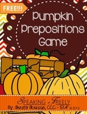 Pumpkin Prepositions Game!