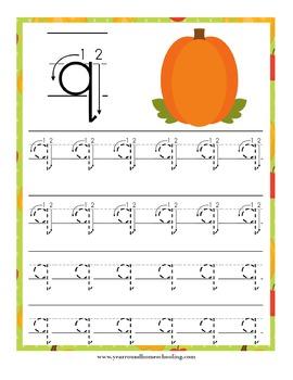 Pumpkin Preschool Handwriting Pack