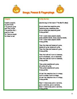 Pumpkin Preschool / Kindergarten Curriculum