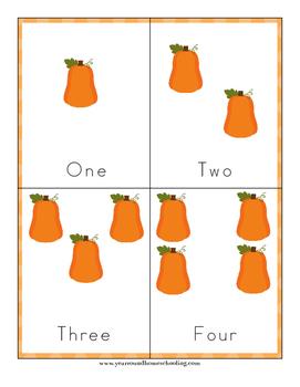 Pumpkin Preschool Learning Pack