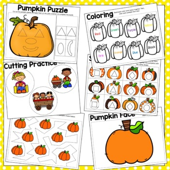 Pumpkin Preschool Packet