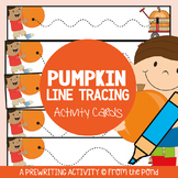 Pumpkin Prewriting Activity Cards for Fall