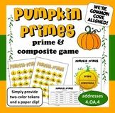 Pumpkin Primes –prime and composite math game
