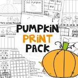 Fall Activities for Kindergarten - No Prep Pumpkin Printab