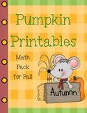 Pumpkin Printables Halloween Math Pack Common Core Aligned
