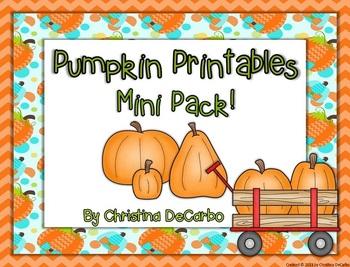 Pumpkin Printables Mini Pack: A Freebie!