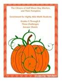 Pumpkin Problem Solving Grades 5-8 Triangular Numbers