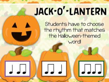 Pumpkin Problems - Halloween-themed Interactive PDF game to identify Rhythm