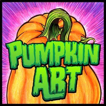Pumpkin Art - 101 Pumpkin graphics for Project Templates & Coloring Sheets