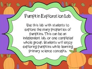 Pumpkin Properties Exploration Lab