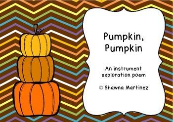 """Pumpkin, Pumpkin"" - An instrument exploration poem with solfege rondo form"