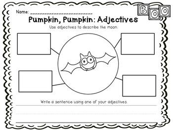 Pumpkin, Pumpkin Big Book and Emergent Reader with Adjective Practice