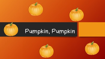 Pumpkin, Pumpkin Lesson for introducing or reinforcing sixteenth notes