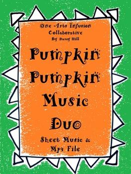 Pumpkin Pumpkin Music Duo: Sheet Music and an MP4 File