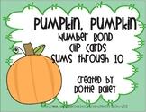 Pumpkin, Pumpkin Number Bond Clip Cards facts through 10