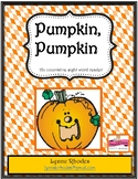 Pumpkin Pumpkin Sight Word Reader
