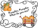 Pumpkin Pumpkin What Do You See?