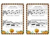 Pumpkin, Pumpkin - an easy Halloween song for beginning violin