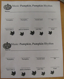 Pumpkin Pumpkin (song) Rhythm Worksheet - Halloween