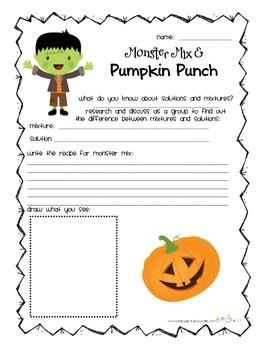 Pumpkin Punck/Monster Mix - Mixtures and Solutions