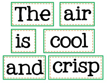 Pumpkin Punctuation & Sentence Fluency