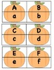 Pumpkin Puzzle Matching Cards - Uppercase/Lowercase Letter