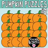 Pumpkin Puzzle Templates 2, Puzzle Clipart