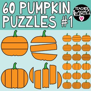 Pumpkin Puzzle Templates, Puzzle Clipart