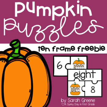 Pumpkin Puzzles (ten frame freebie)