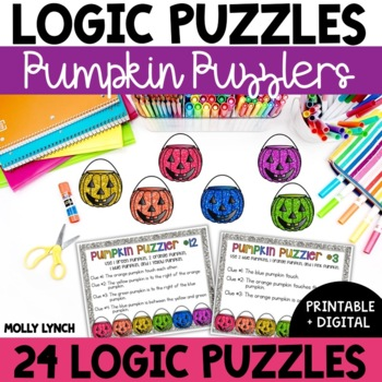 Pumpkin Puzzlers Logic Problem Solving {Logic Puzzles}
