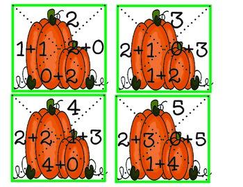 Pumpkin Puzzles Addition Math Center