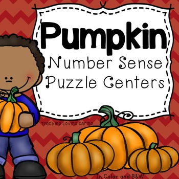 Pumpkin Math Number Sense Place Value Center - More and Less, Base Ten, and More