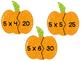 Pumpkin Puzzles - Multiplication Activity