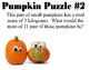 Pumpkin Puzzles SCOOT with Grams, Kilograms, Liters, and Milliliters Activity