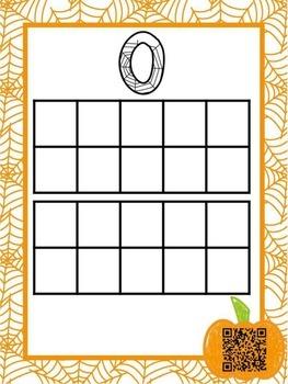 Pumpkin QR Code Ten Frames 0-20