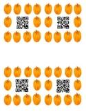 Pumpkin QR code Ten Frames