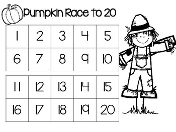 Pumpkin Race to 20 Game