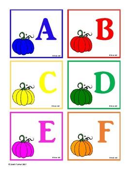 Pumpkin Rainbow Letters