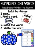 Pumpkin Read and Write the Room {Kindergarten}