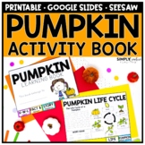 Pumpkin Reading & Science Activities Flip Book