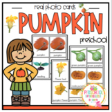 Pumpkin Real Photos Montessori 3 part cards