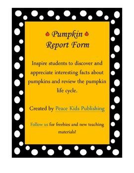 Pumpkin Report Form