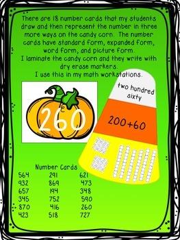 Pumpkin Representing Numbers