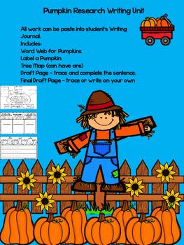 Pumpkin Research Writing Unit