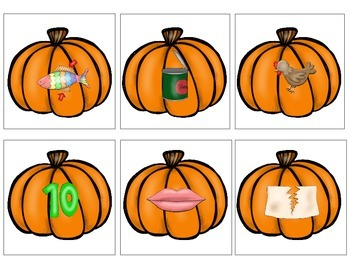 Pumpkin Rhyming Cards
