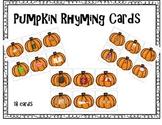 Pumpkin Rhyming Cards